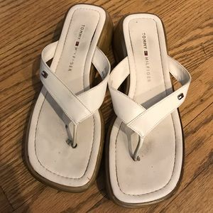 White Tommy Hilfiger sandals 7M